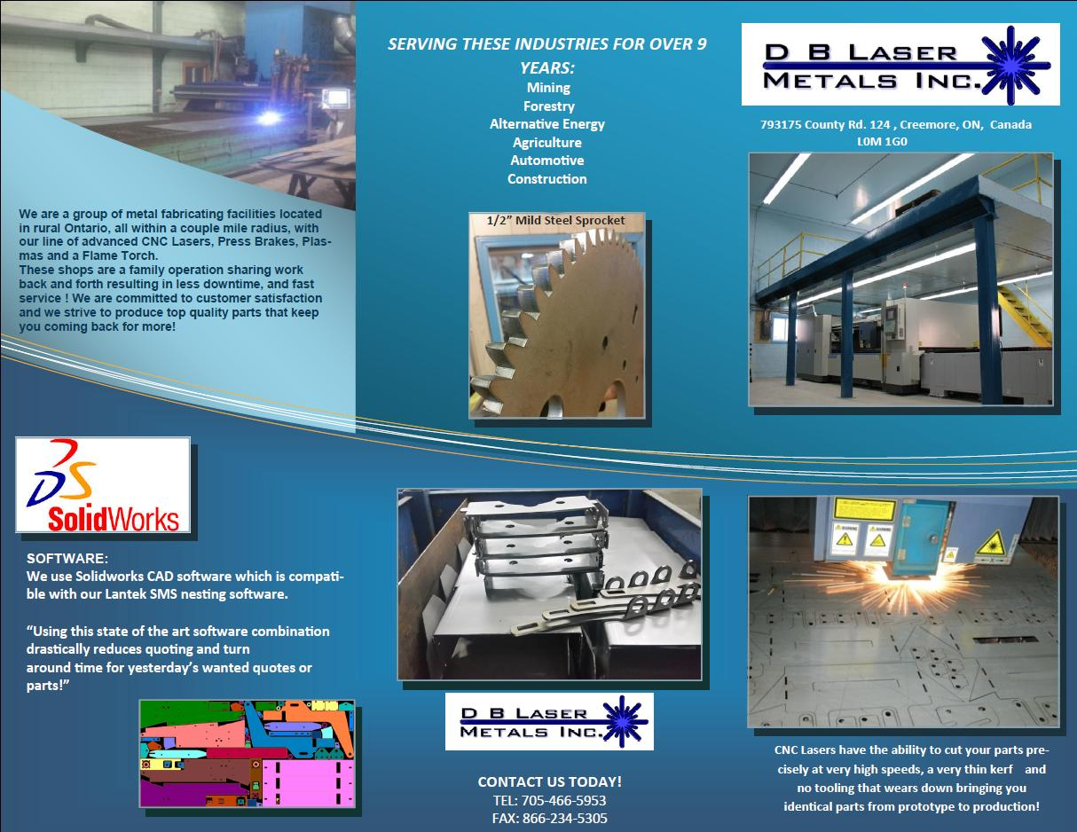 Welcome to DB Laser Metals